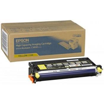 Заправка картриджа Epson C13S051124 желтый для AcuLaser C3800