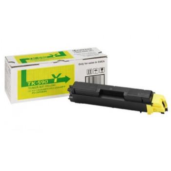 Заправка картриджа  Kyocera TK-590 желтый для FS-C2026/C2126/C5250DN/M6526cdn