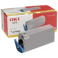 Заправка картриджа  OKI 41304285/41304209 10k желтый для C7200/C7400