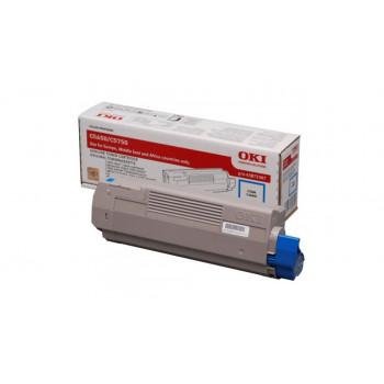 Заправка картриджа  OKI 43872323/43872307 2k голубой для C5650/C5750