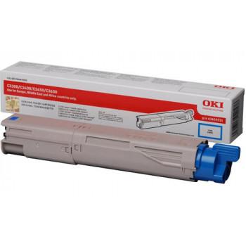 Заправка картриджа  OKI 43459347/43459331 2.5k голубой для C3300/C3400/C3450/C3600