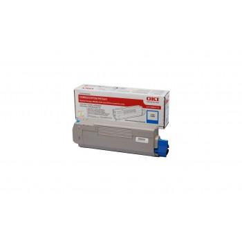 Заправка картриджа  OKI 43865743/43865723 6k голубой для C5850/C5950/MC560