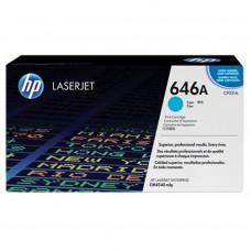 Заправка картриджа HP CF031A (646A) голубой cyan для HP CLJ CM4540