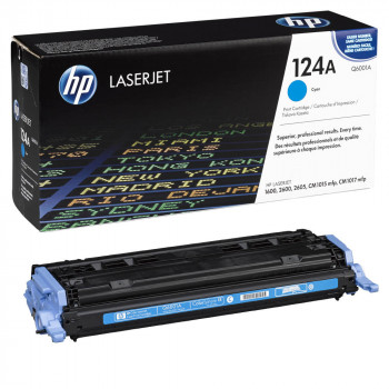 Заправка картриджа HP Q6001A (124A) cyan голубой для HP CLJ 1600/2600