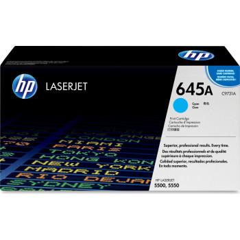 Заправка картриджа HP C9731A (645A) голубой cyan для HP CLJ 5500/5550