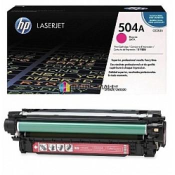 Заправка картриджа HP CE253A (504A) пурпурный magenta для HP CLJ CP3520/CM3530