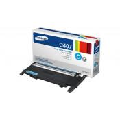 Заправка картриджа SAMSUNG CLT-C407S голубой+ЧИП для Samsung CLP-320, CLP-325, CLX-3185