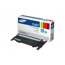 Заправка картриджа SAMSUNG CLT-C407S голубой, если аппарат прошит для Samsung CLP-320, CLP-325, CLX-3185