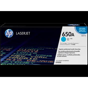 Заправка картриджа HP CE271A (650A) голубой cyan для HP CLJ CP5525