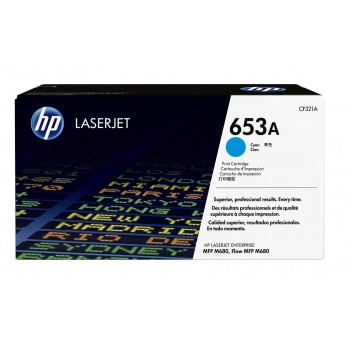 Заправка картриджа HP CF321A (653A) голубой cyan для HP CLJ Enterprise M680
