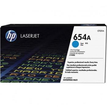 Заправка картриджа HP CF331A (654A) голубой cyan для HP CLJ Enterprise M651