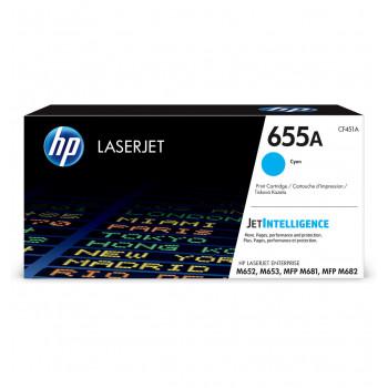 Заправка картриджа HP CF451A (655A) голубой cyan для HP CLJ Enterprise M652 /M653