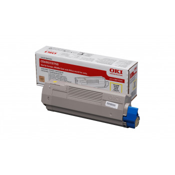 Заправка картриджа  OKI 43872321/43872305 2k желтый для C5650/C5750