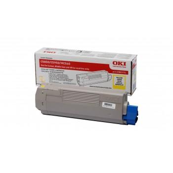 Заправка картриджа  OKI 43865741/43865721 6k желтый для C5850/C5950/MC560